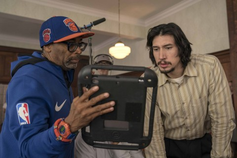 4117_D017_09472_R_CROPSpike Lee and Adam Driver on the set of Spike Lee's BlacKkKlansman, a Focus Features release.Credit: David Lee / Focus Features