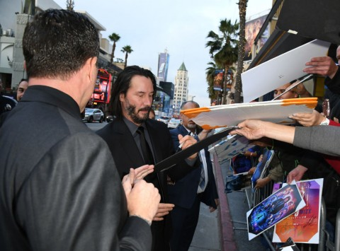 "HOLLYWOOD, CALIFORNIA - MAY 15: Keanu Reeves attends the special screening of Lionsgate's ""John Wick: Chapter 3 - Parabellum"" at TCL Chinese Theatre on May 15, 2019 in Hollywood, California. (Photo by Kevin Winter/Getty Images)"