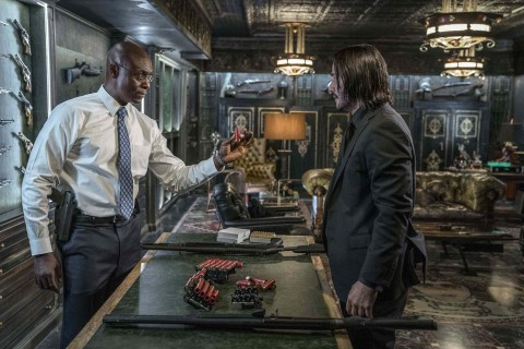 Charon (Lance Reddick, left) and John Wick (Keanu Reeves, right) in JOHN WICK: CHAPTER 3 - PARABELLUM