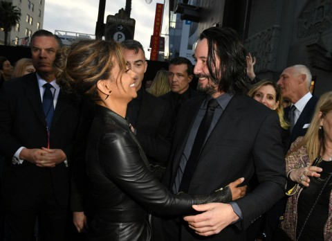 "HOLLYWOOD, CALIFORNIA - MAY 15:  Halle Berry and Keanu Reeves attend the special screening of Lionsgate's ""John Wick: Chapter 3 - Parabellum"" at TCL Chinese Theatre on May 15, 2019 in Hollywood, California. (Photo by Kevin Winter/Getty Images)"