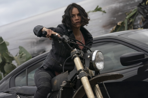 Michelle Rodriguez as Letty in F9, directed by Justin Lin.